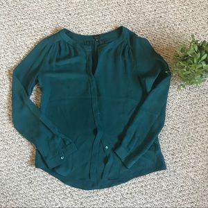 aritzia babaton silk button down shirt